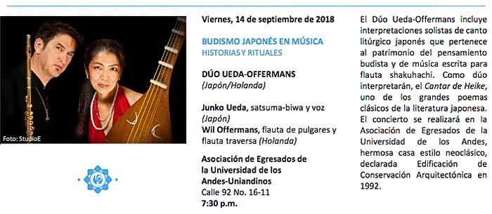 Duo Concert in Bogota, Colombia 2018