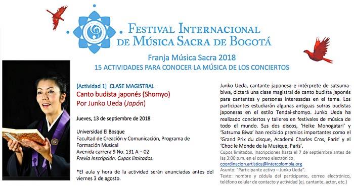 Shomyo Workshop in Bogota, Colombia 2018
