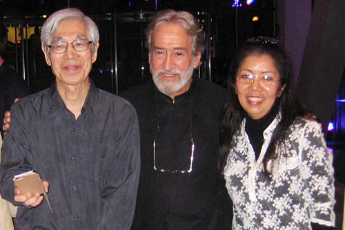 Junko Ueda with Jordi Savall and Seki in Lincoln Centre, New York City